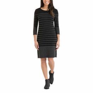 Hilary Radley 3/4 Sleeve Above  Knee Shirt Dress